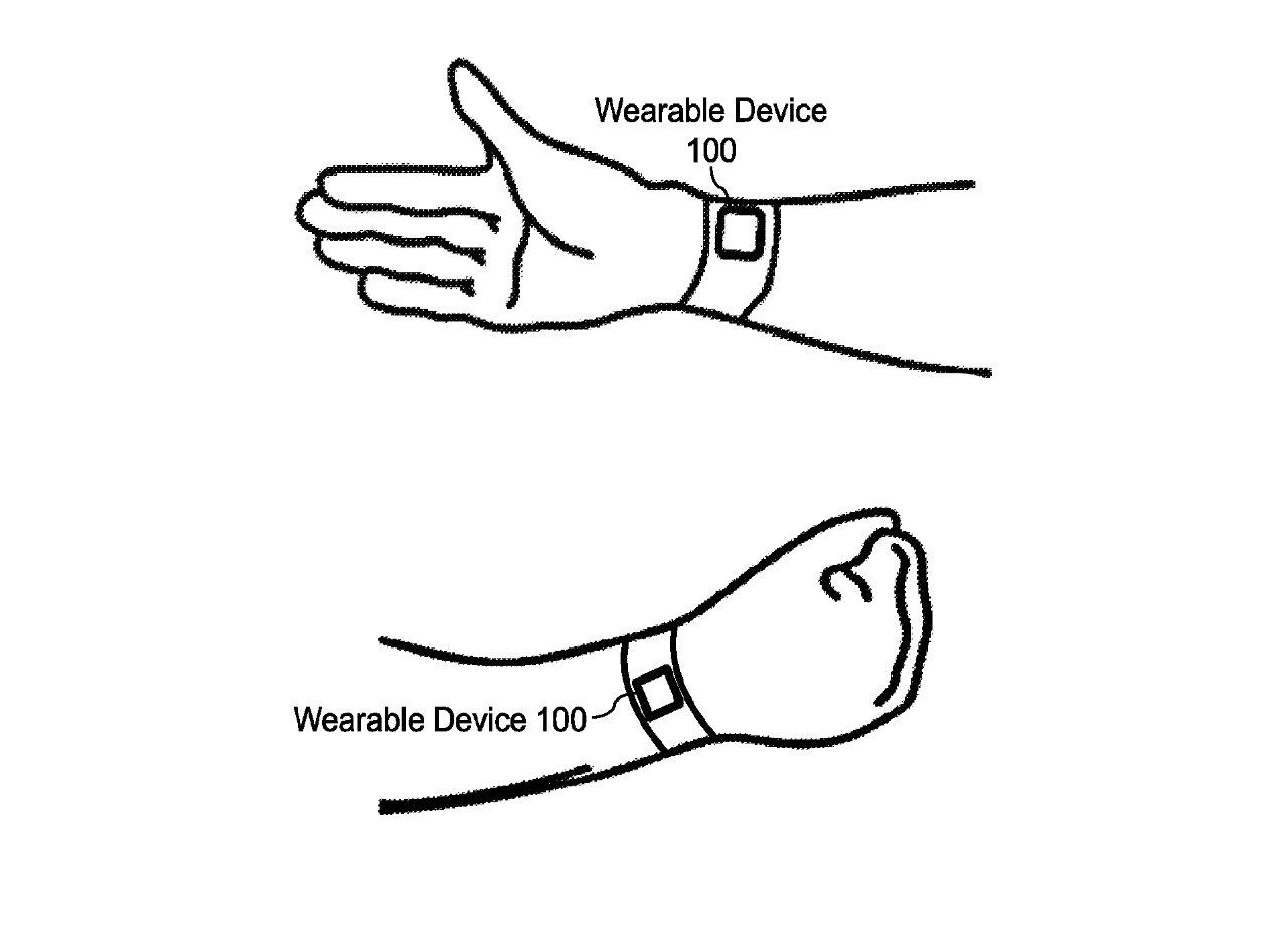 جزئیات ثبت اختراع نشان دهنده نحوه تشخیص موقعیت های مختلف دست توسط سنسور نوری