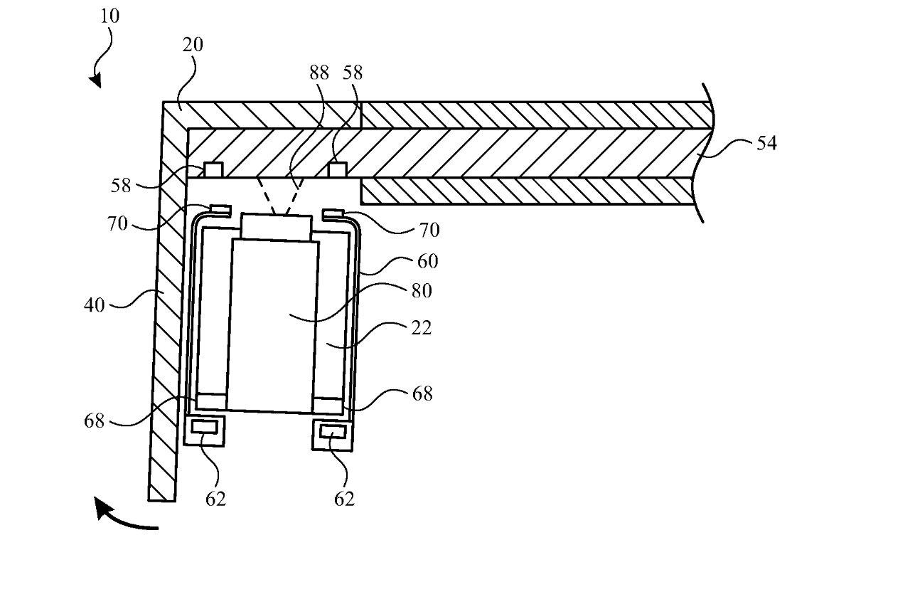 جزئیات ثبت اختراع که مکانیزم نظارتی را نشان می دهد
