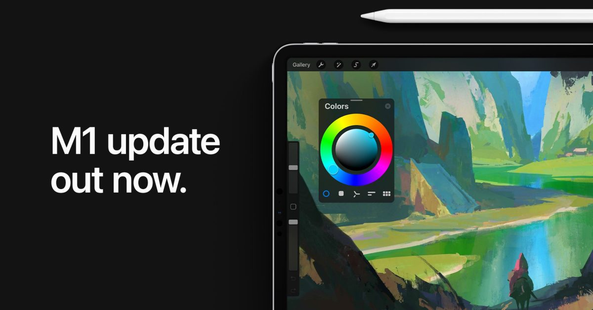 Procreate با عملکرد بهتر و لایه های بیشتر برای کاربران M1 iPad Pro به روز شده است
