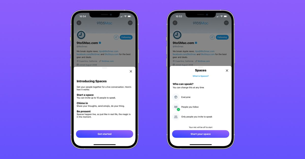 اکنون توییتر به کاربران امکان می دهد تا از طریق مرورگرهای وب دسک تاپ و موبایل به Spaces بپیوندند