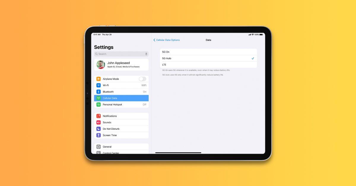 M1 iPad Pro می تواند به روزرسانی های نرم افزار iPadOS را از طریق 5G بارگیری کند